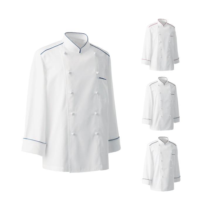 SEVEN(白洋社) BA1081 男女兼用コックコート 長袖