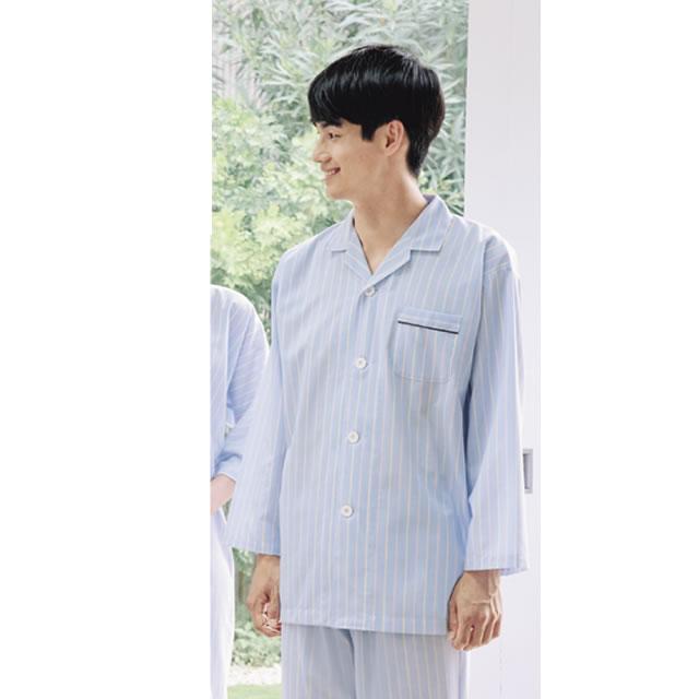218-98 ストライプ患者衣(パジャマ型)