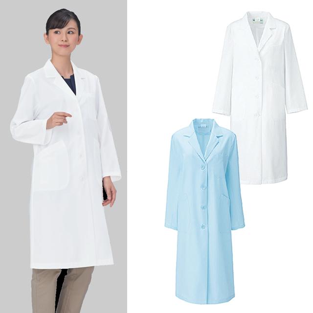 260-9 レディス診察衣シングル型長袖
