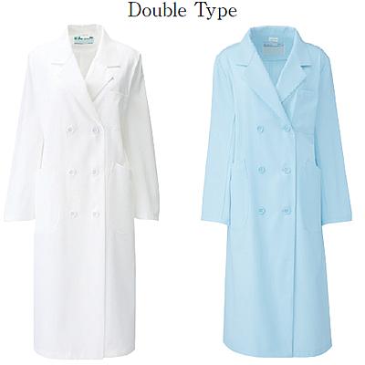 265-9 レディス診察衣ダブル型長袖