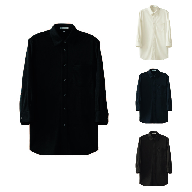 SEVEN(白洋社) CH4494 男女兼用7分袖ニットシャツ