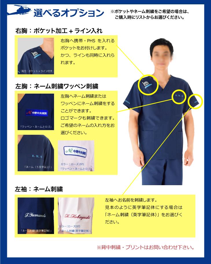 コード・ブルー山下智久スクラブネーム刺繍